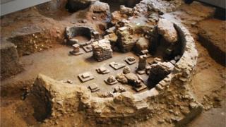 Roman baths at The Novium in Chichester