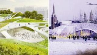 Designs one and two for Aberdeen's Union Terrace Gardens