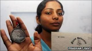 Ankita Kumari and medal