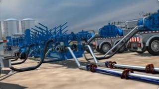 """Image from Weir Group video of """"fracking"""" process"""