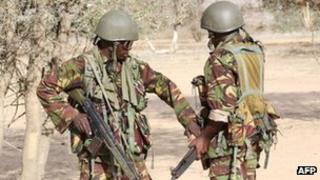 Kenyan soldiers in Liboi (file photo)