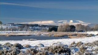 Brecon Beacons in the snow