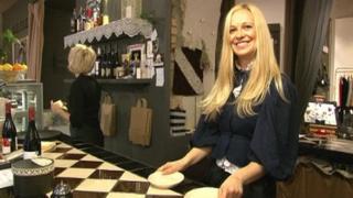 Greta Gorjucko in her new cafe
