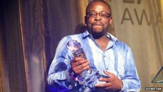 Lucky Mazibuko at an awards ceremony in Johannesburg, November 2011