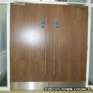 The current wooden doors at Didcot Civic Hall