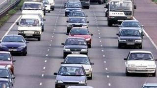 The traffic on the A14
