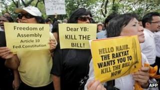Lawyers demonstrate in Kuala Lumpur on 29 November 2011