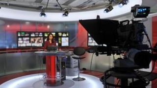 BBC World News set