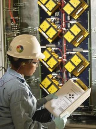 An engineer in Wood Group Mustang's automation and control business unit