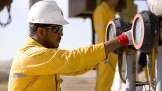 Dana Petroleum worker at North Zeit Bay operation