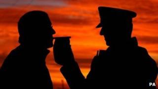 Police breath test (generic)