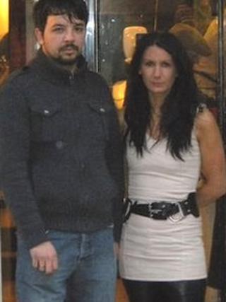Simon and Carol Chamberlain outside their shop