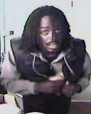 The CCTV image of the suspect