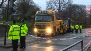 The bus is recovered from the scene