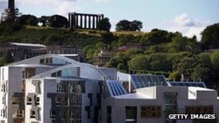 Scottish Parliament Building at Holyrood