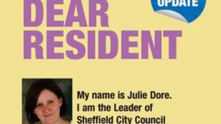 Budget consultation leaflet from Sheffield City Council