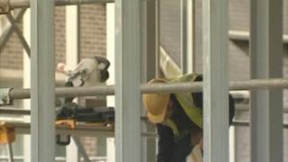 Construction work at Ysgol Dyffryn Aman school