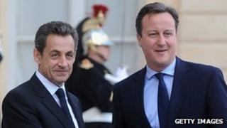 Nicolas Sarkozy (left) and David Cameron