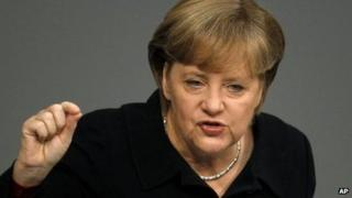 Angela Merkel in Berlin, 2 December 2011