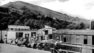Taffs Well spring in the 1930s (picture Pentyrch and District Local History Society)