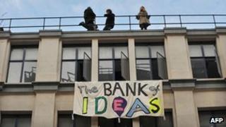 The occupied Hackney building