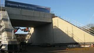 The new Cow Lane bridge