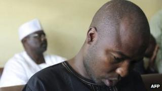 Ali Sanda Umar Konduga (front row) and Ali Ndume in court on 23 November