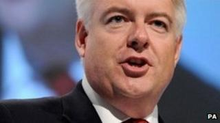 Carwyn Jones speaks to the Labour conference at the Echo Arena in Liverpool