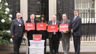Petition handed over in Downing Street