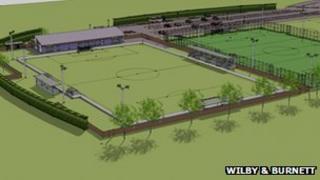 Bury Town Football Club's proposed new stadium