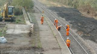 Work at Goodwick Station