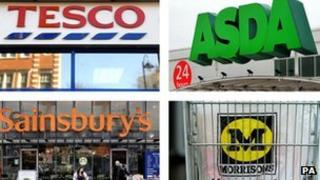 Tesco, Asda, Sainsbury's and Morrisons