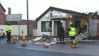 Damaged bank in Coningsby