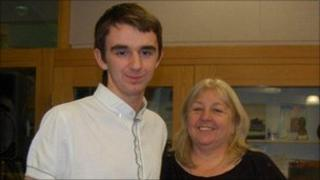 Owen Fennell-Rutherford and mother