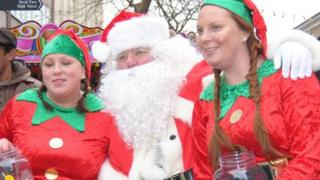 Santa and his helpers visited the event last year too