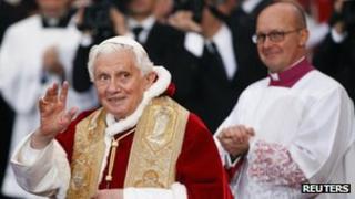 Pope Benedict in Rome on 8 December 2011