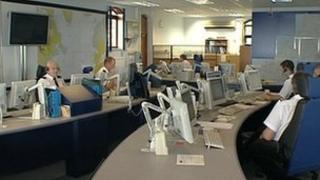 Falmouth Coastguard control room