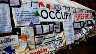 Occupy Sheffield camp