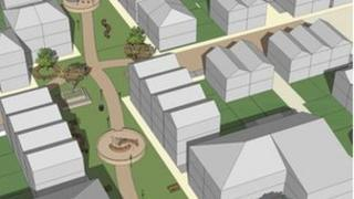 Draft plans for part of the redevelopment in Harlow