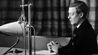 The Duke of Windsor (became Edward VIII in 1936) broadcasting to the Empire from Broadcasting House, April 1935.