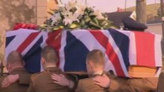 L/Cpl Richard Scanlon's funeral