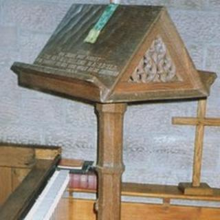 Bible stand stolen from St Peter's Church in Sicklinghall