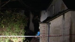 Fire-damaged house in Lifton area