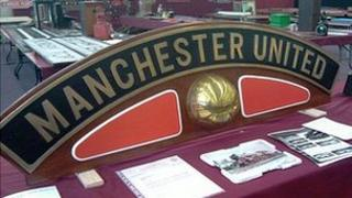 Manchester United nameplate