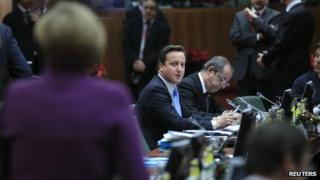 British Prime Minister David Cameron at the European Union summit in Brussels on 9 December 2011