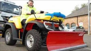 Bedford Mayor Dave Hodgson with winter quad bike
