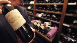 File picture of a bottle of Chateau Margaux Bordeaux