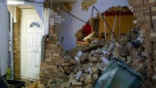 Damaged Reigate house