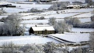 Archive picture of snow in Braid Valley, County Antrim