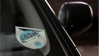 Road tax disc